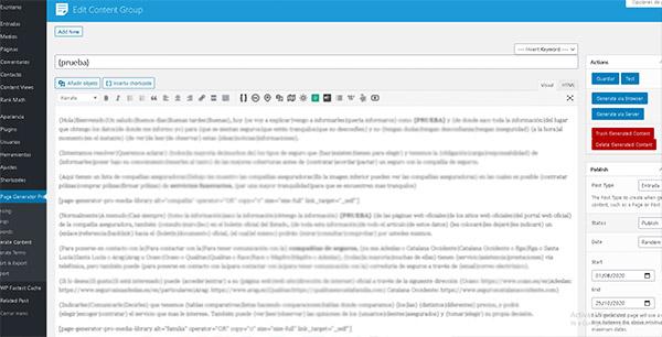 Generar contenido automático para WordPress GRATIS