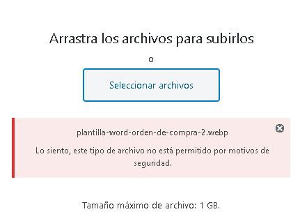 Optimizar imágenes en wordpress webp