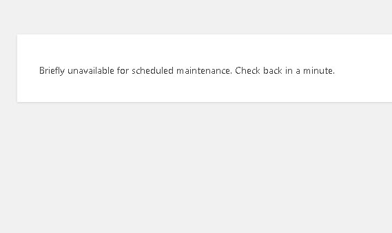 SOLUCIONAR ERROR: Briefly unavailable for scheduled maintenance. Check back in a minute.